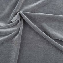 Grey Stretch Spandex Velvet Fabric 145cm Wide